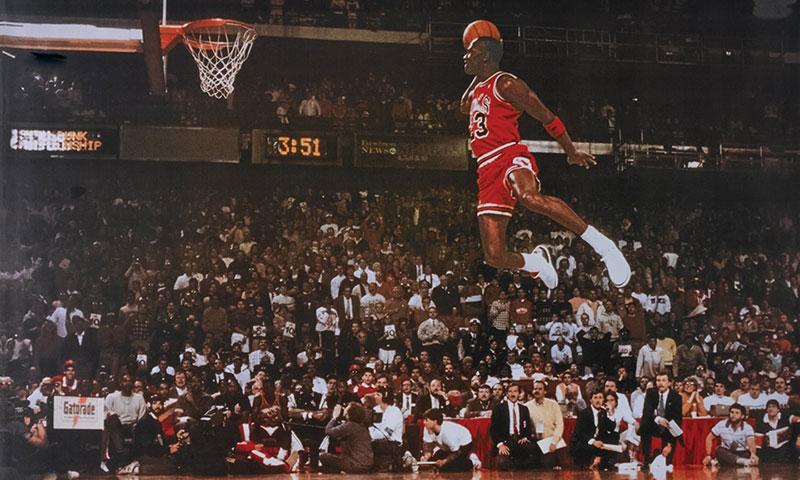 Michael Jordan Air Man slam dunk