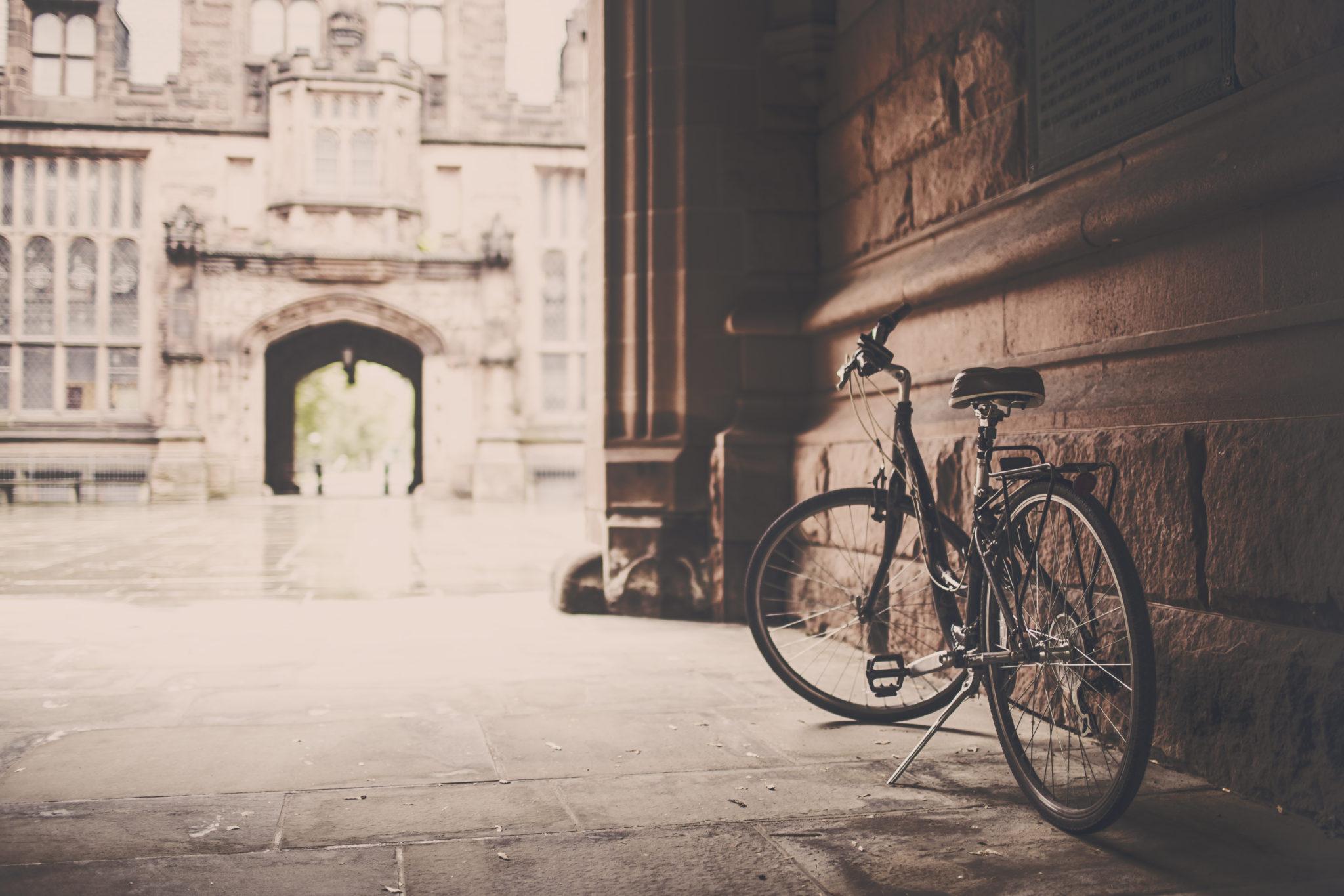 bicycle on sidewalk