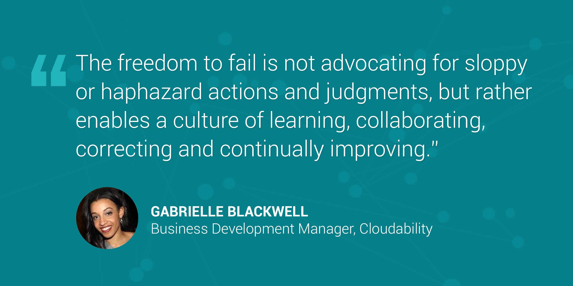 Cloudability's Gabrielle Blackwell Brings Grit and Determination to Sales